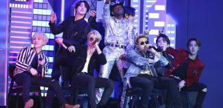 Lil Nas X e BTS cantam no Grammy 2020 — Foto: Matt Sayles/Invision/AP