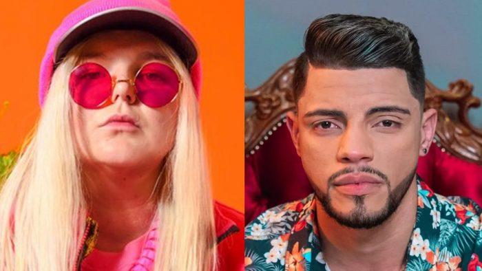 Tones and I, australiana dona do hit 'Dance monkey', e o DJ pernambucano JS O Mão de Ouro, que vai fazer o remix oficial da faixa a convite da gravadora Warner — Foto: Divulgação