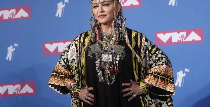 Madonna no VMA 2018 — Foto: REUTERS/Carlo Allegri
